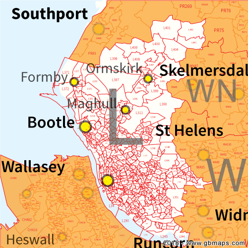 Liverpool Postcode Area District And Sector Maps In Editable Format