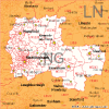 leicester postcode area district and sector maps in. Black Bedroom Furniture Sets. Home Design Ideas
