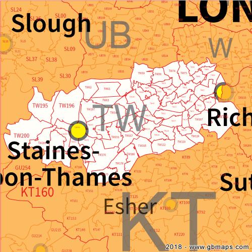 greater london postcode map pdf