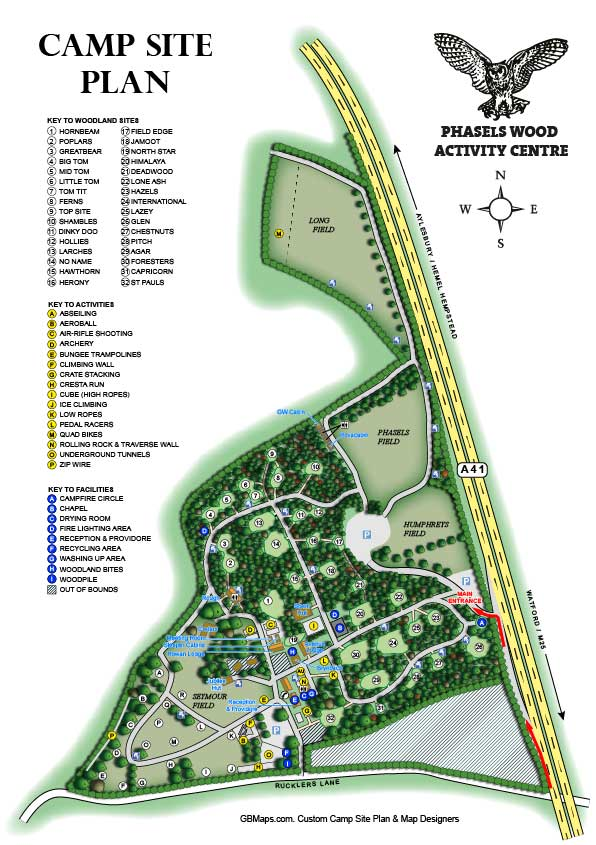 Activity Centre Maps and Plans