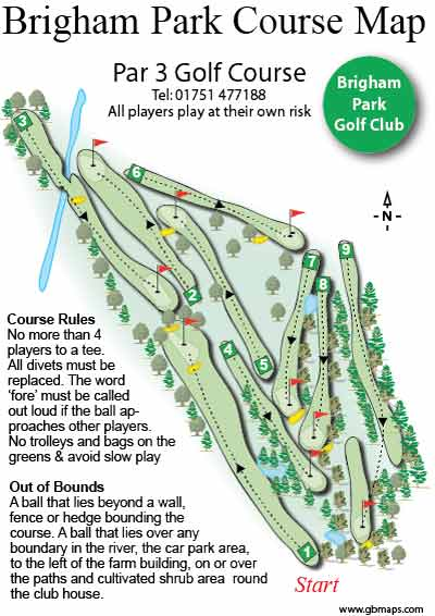 golf course maps and plans