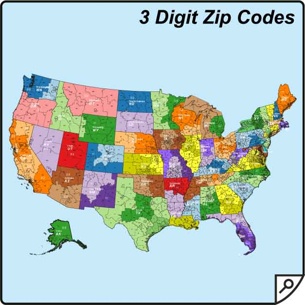 Zip Code Map Of Us Zip Code Map - Zip code map of us