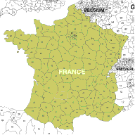 Map Of France Zip Codes.Free To Download European 2 Digit Postcode Maps