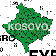 kosovo 2 digit zip postcode map