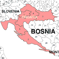 bosnia postcode map
