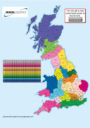 gb postcode map