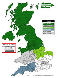 Free Editable uk County Map Download