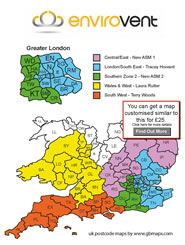 UK Postcode Area District Sector Maps Sales Territory Postal - Us postal district map