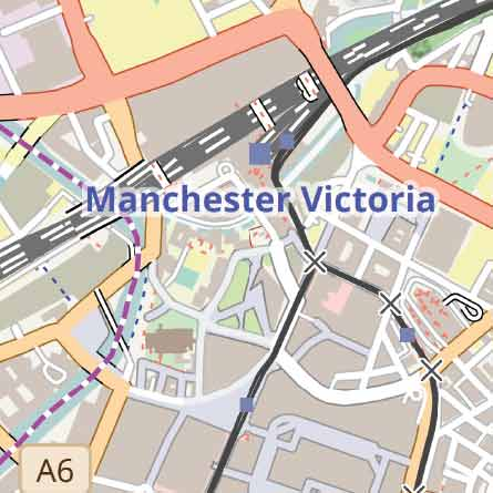 manchester vector pdf map